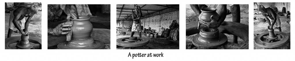 Joyce Mollet - 'The Potter At Work' 5 Panel DPI Winner